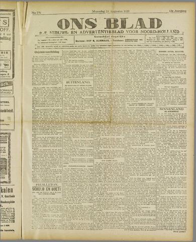 Ons Blad : katholiek nieuwsblad voor N-H 1920-08-23