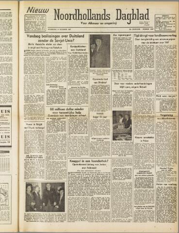 Nieuw Noordhollandsch Dagblad : voor Alkmaar en omgeving 1947-12-17
