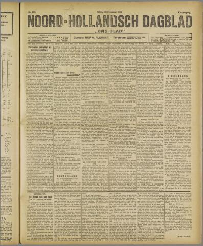 Ons Blad : katholiek nieuwsblad voor N-H 1922-12-22