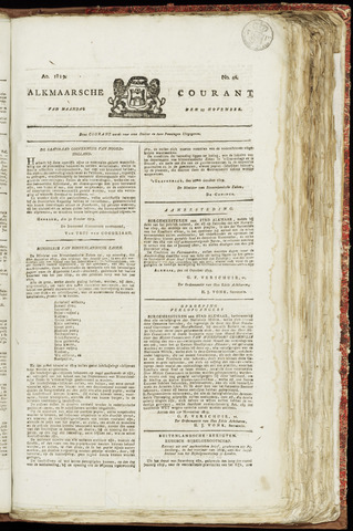 Alkmaarsche Courant 1819-11-15