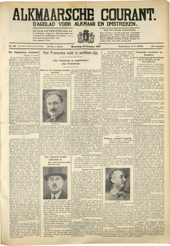 Alkmaarsche Courant 1937-10-25