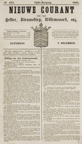 Nieuwe Courant van Den Helder 1865-12-09