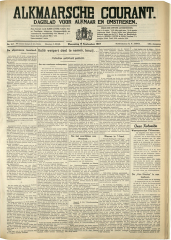 Alkmaarsche Courant 1937-09-15