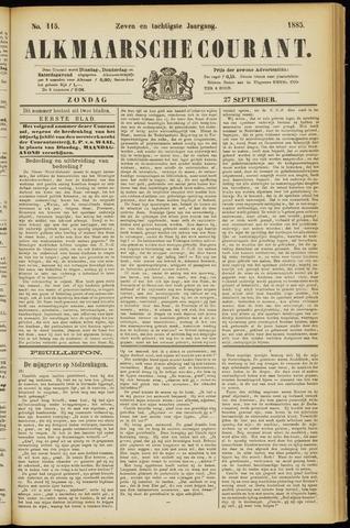 Alkmaarsche Courant 1885-09-27