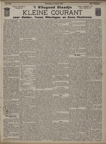 Vliegend blaadje : nieuws- en advertentiebode voor Den Helder 1909-01-27