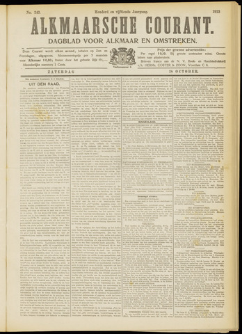 Alkmaarsche Courant 1913-10-18