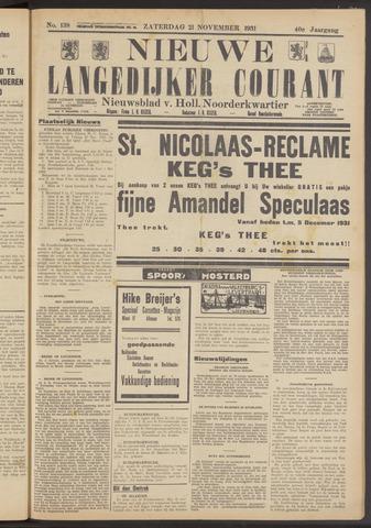 Nieuwe Langedijker Courant 1931-11-21