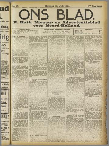 Ons Blad : katholiek nieuwsblad voor N-H 1912-07-30