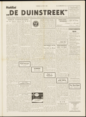 De Duinstreek 1958-11-21