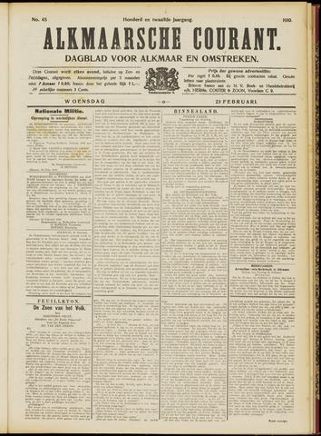 Alkmaarsche Courant 1910-02-23