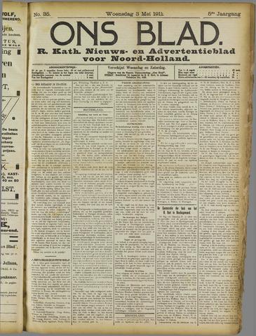Ons Blad : katholiek nieuwsblad voor N-H 1911-05-03