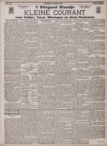 Vliegend blaadje : nieuws- en advertentiebode voor Den Helder 1906-01-17