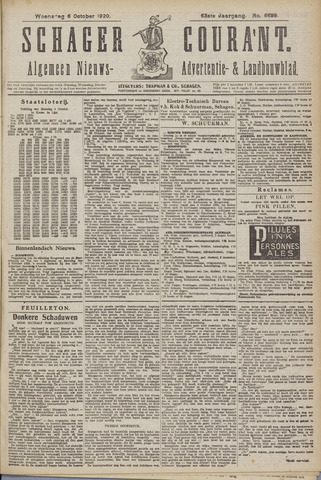 Schager Courant 1920-10-06