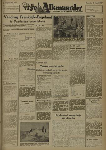 De Vrije Alkmaarder 1947-03-05