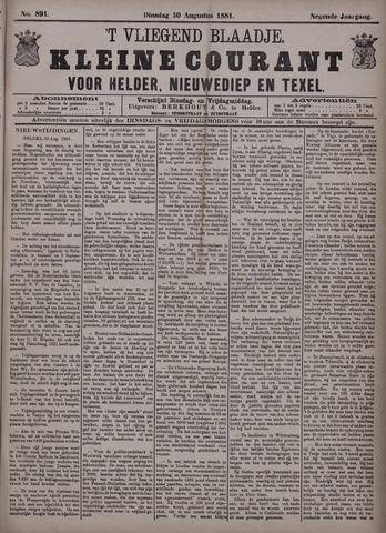 Vliegend blaadje : nieuws- en advertentiebode voor Den Helder 1881-08-30