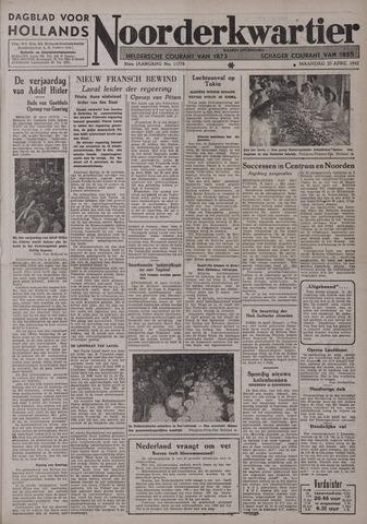 Dagblad voor Hollands Noorderkwartier 1942-04-20