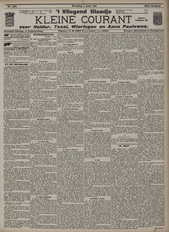 Vliegend blaadje : nieuws- en advertentiebode voor Den Helder 1910-04-06