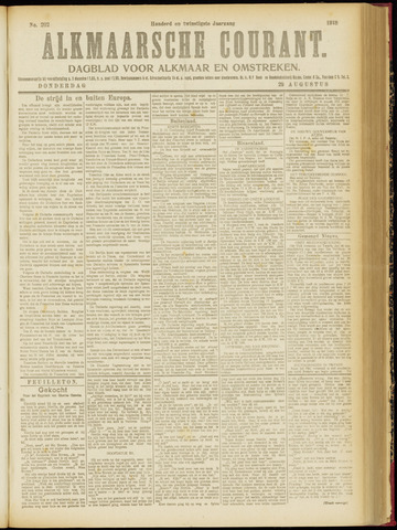 Alkmaarsche Courant 1918-08-29