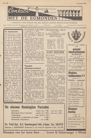 Contact met de Egmonden 1962-01-11