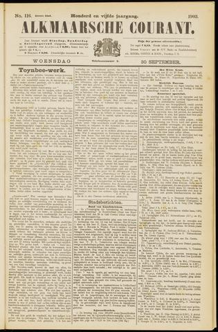 Alkmaarsche Courant 1903-09-30