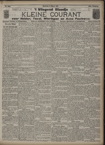 Vliegend blaadje : nieuws- en advertentiebode voor Den Helder 1910-03-12