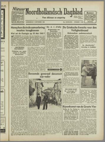 Nieuw Noordhollandsch Dagblad : voor Alkmaar en omgeving 1946-09-05