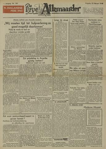 De Vrije Alkmaarder 1948-02-13