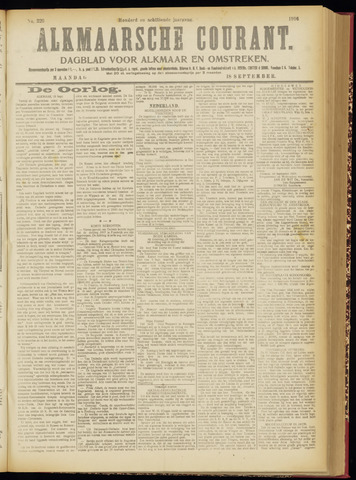 Alkmaarsche Courant 1916-09-18