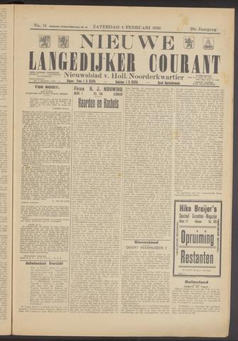 Nieuwe Langedijker Courant 1930-02-01