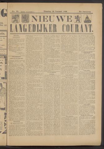 Nieuwe Langedijker Courant 1922-01-24