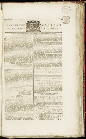 Alkmaarsche Courant 1832-01-09