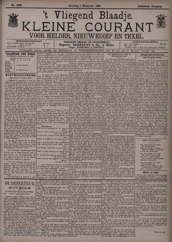 Vliegend blaadje : nieuws- en advertentiebode voor Den Helder 1890-11-01