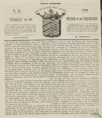 Weekblad van Den Helder en het Nieuwediep 1846-11-30