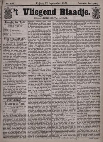 Vliegend blaadje : nieuws- en advertentiebode voor Den Helder 1879-09-12