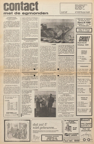 Contact met de Egmonden 1972-03-15