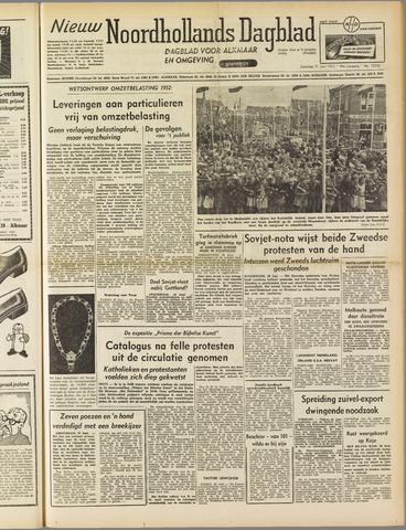 Nieuw Noordhollandsch Dagblad : voor Alkmaar en omgeving 1952-06-21