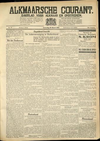 Alkmaarsche Courant 1933-03-25