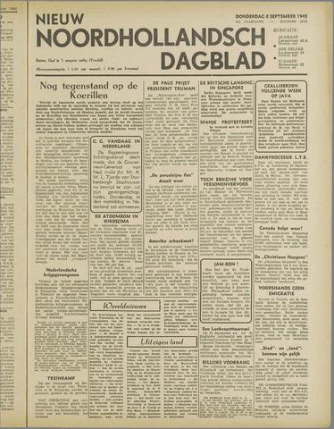 Nieuw Noordhollandsch Dagblad : voor Alkmaar en omgeving 1945-09-06