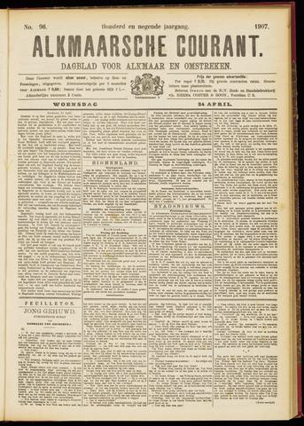 Alkmaarsche Courant 1907-04-24