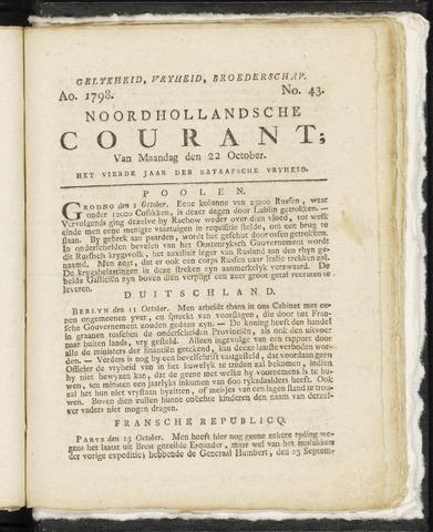 Noordhollandsche Courant 1798-10-22
