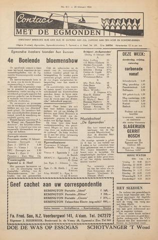 Contact met de Egmonden 1964-02-20