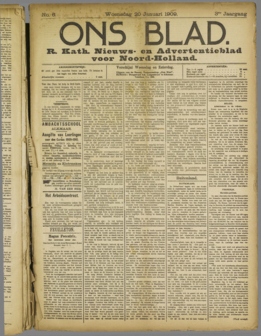 Ons Blad : katholiek nieuwsblad voor N-H 1909-01-20