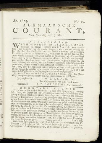 Alkmaarsche Courant 1803-03-07