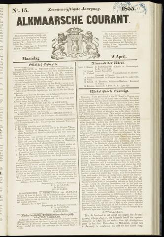 Alkmaarsche Courant 1855-04-09