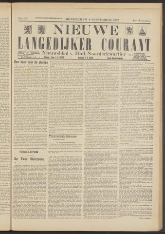 Nieuwe Langedijker Courant 1932-09-08