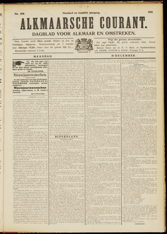 Alkmaarsche Courant 1910-12-19