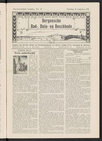 Bergensche bad-, duin- en boschbode 1935-08-24