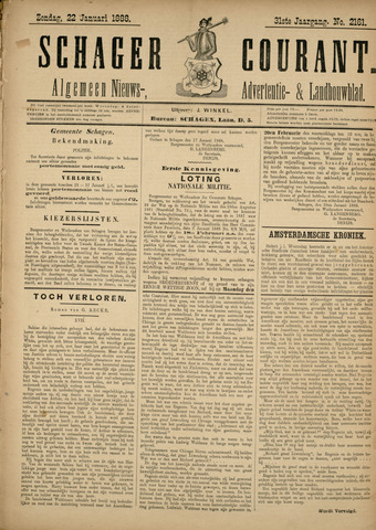 Schager Courant 1888-01-22