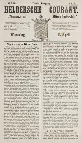 Heldersche Courant 1870-04-13