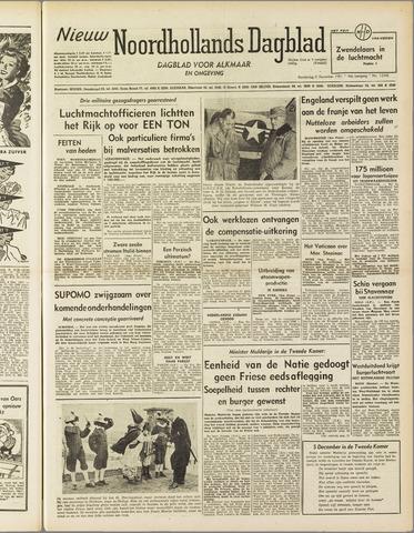 Nieuw Noordhollandsch Dagblad : voor Alkmaar en omgeving 1951-12-06